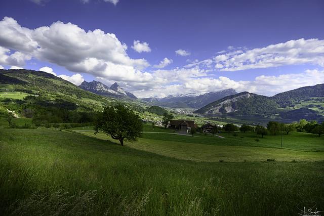 Mountain and lake view from Steinen - Schwyz - Switzerland