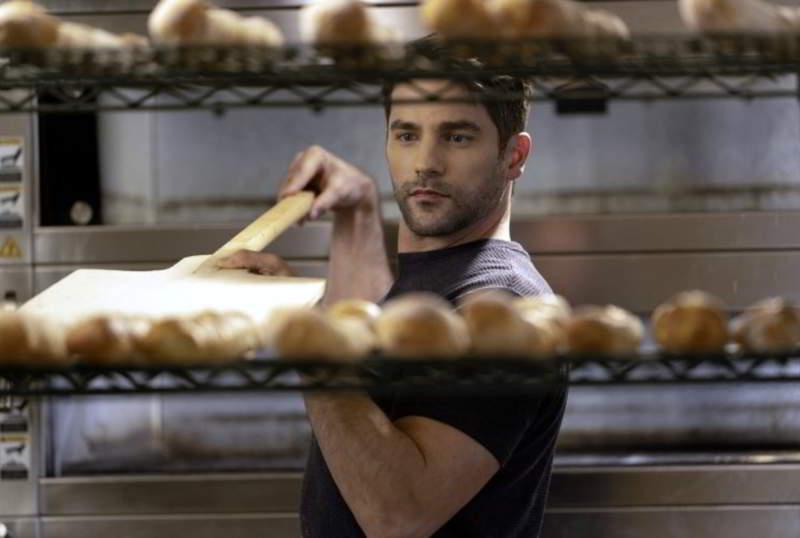 Brant Daugherty baking bread