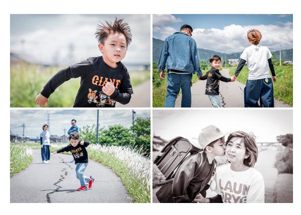 家族の写真 ダンスが上手な男の子