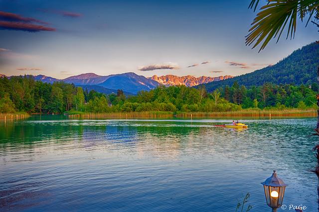 Evening silence at the lake