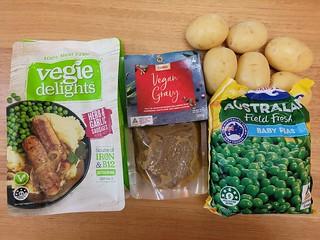 Veggie Delights Sausages, Coles Christmas Gravy