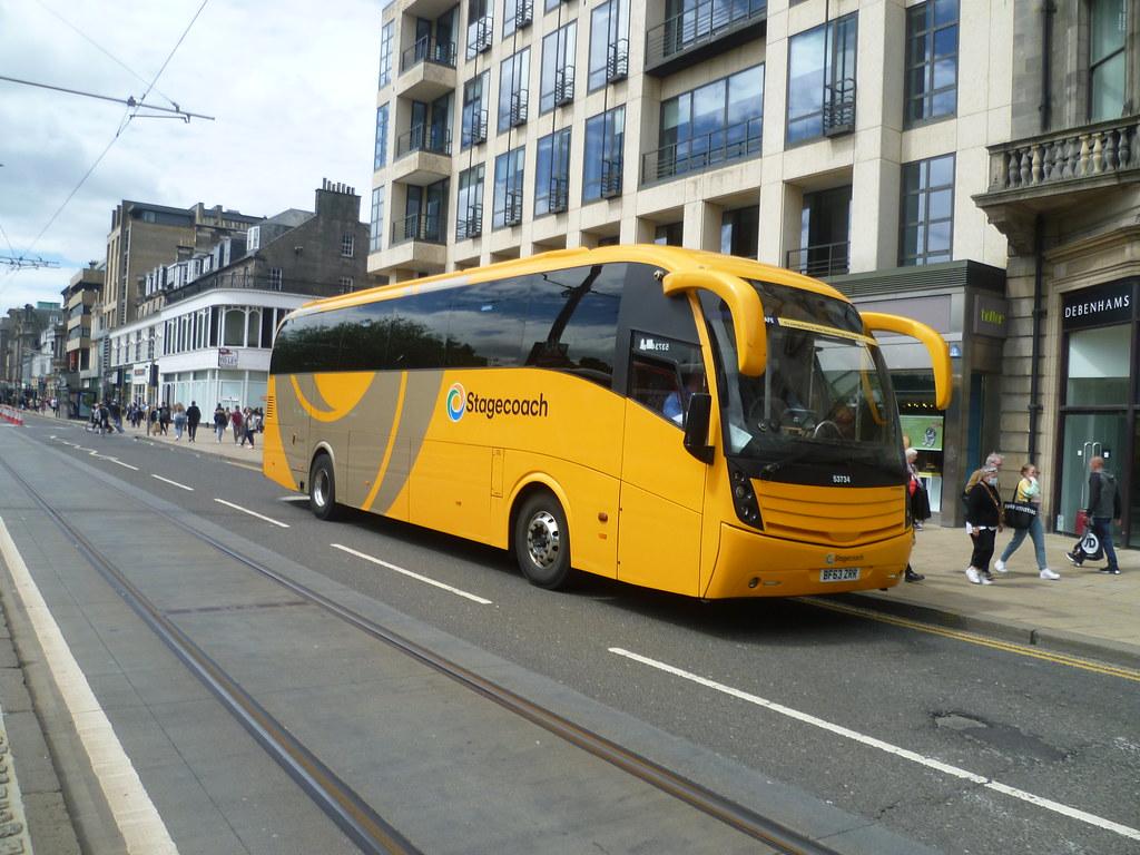 Stagecoach East Scotland 53734 on Princes Street, Edinburgh.