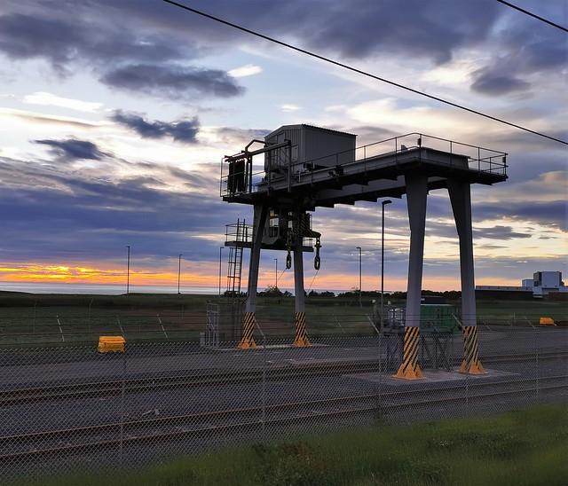 Torness Crane Compound at Dawn