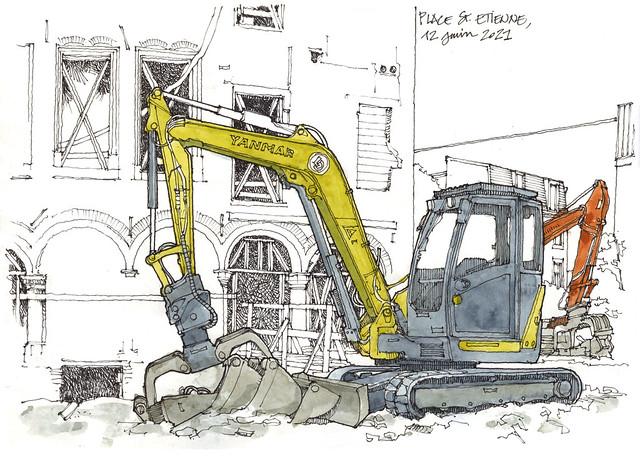 Place Saint-Etienne, 2021