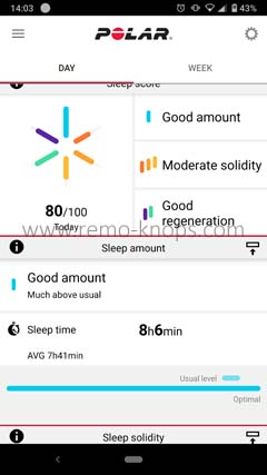 Polar Flow App for Google Android 140341