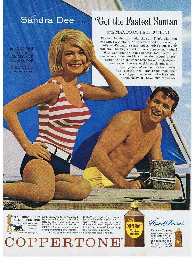 1963 Coppertone Sandra Dee