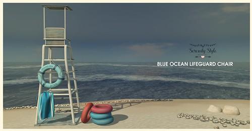 Serenity Style- Blue Ocean Lifeguard Chair