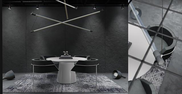 Jack Hanby Interiors - Equal10 Ft; Fancy Decor & Black Sand