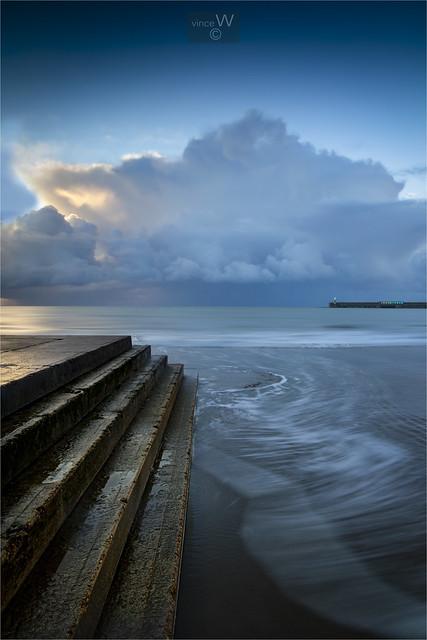 Morning tones at Folkestone.