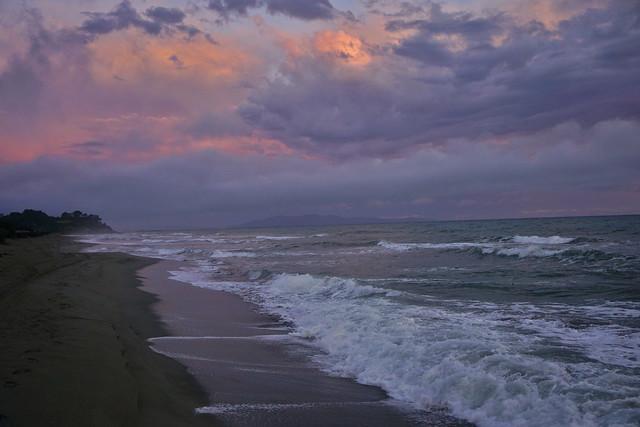 MAREMMA TOSCANA SUNSET AT CAPEZZOLO BEACH