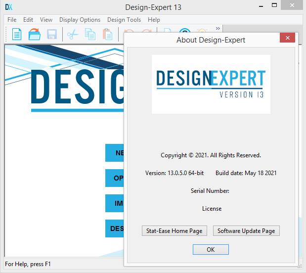 Working with Design-Expert 13.0.5.0 x64 full