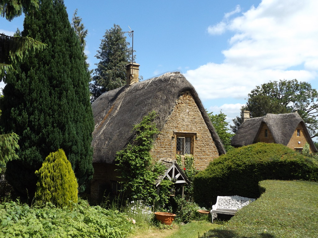 Thatched Cottages in Great Tew, Oxfordshire, 12 June 2021