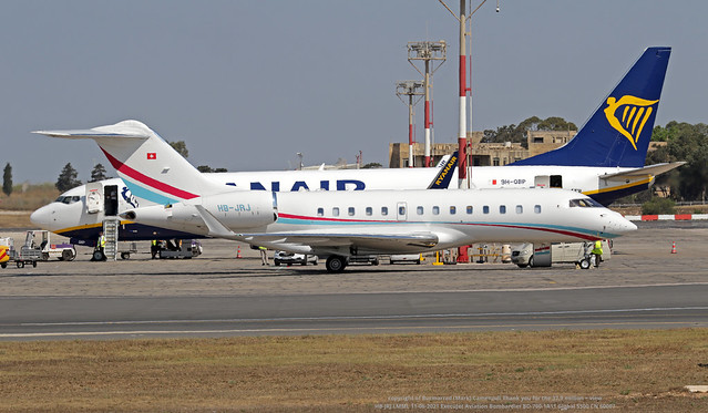 HB-JRJ LMML 11-06-2021 ExecuJet Aviation Bombardier BD-700-1A11 Global 5500 CN 60007