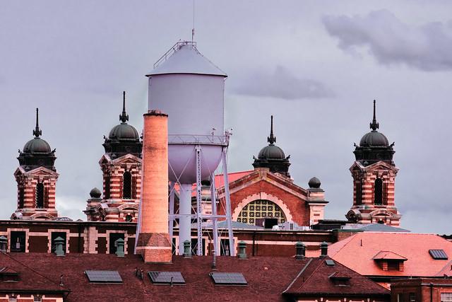 Roof of Ellis Island building