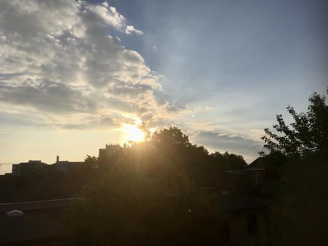 Sonntagmorgenhimmel 13.6.2021, 6:22 - Sonnenaufgang wieder verpasst