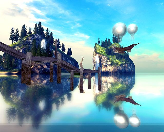 Ansa`fel - High Fantasy RP - Flying Boat Reflected