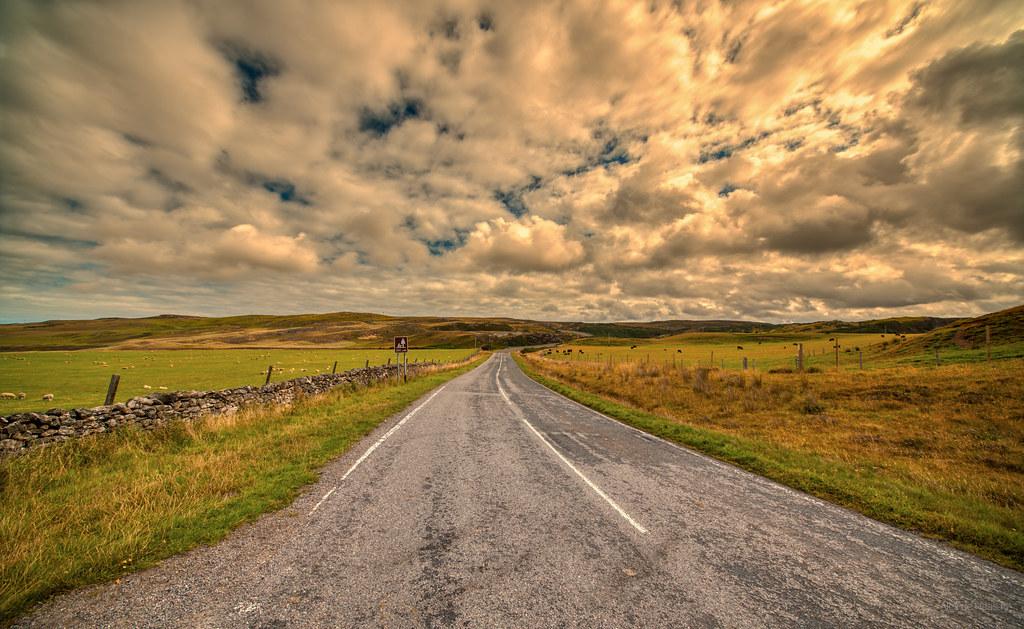 A836 between Armadale and Lednagullin, Scotland.