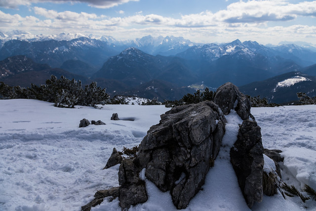 Aufblick vom Gipfel des Zwiesel - 06