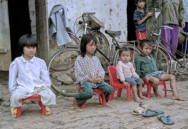 Vietnam  - around Son La - young schoolchildren