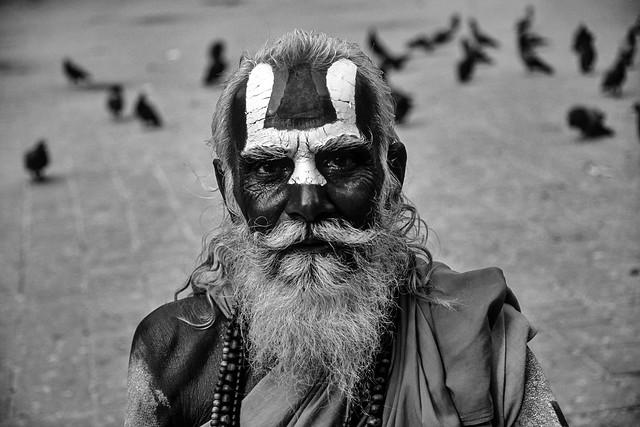 Holy Man at Durbar Square, Kathmandu, 2003