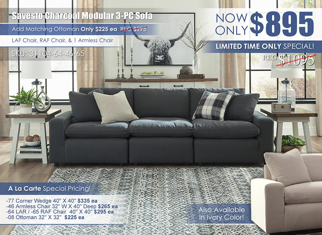 Savesto Charcoal 3-Piece Modular Sofa_31104-64-46-65-PILLOW_June2021