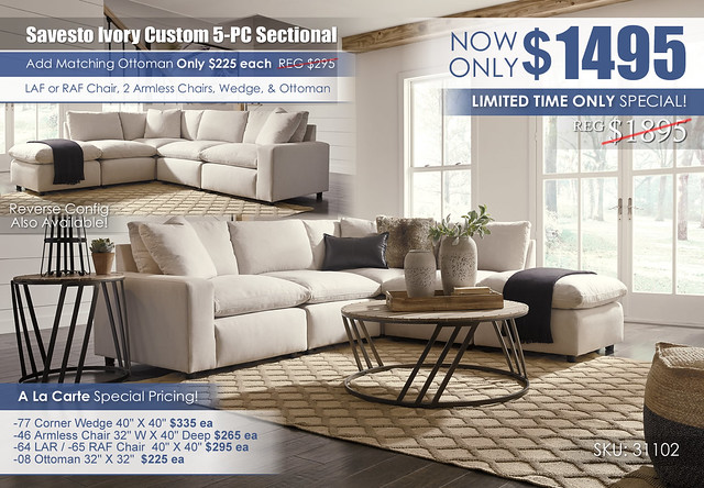 Savesto Ivory 5-PC Sectional_31102-64-46-77-46-08-T536-PILLOW_June 2021