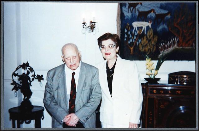 Ragheb Moftah with Laurence Moftah 1995