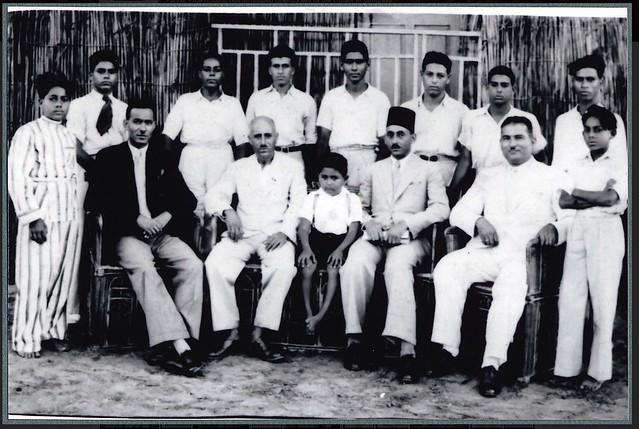 Ragheb Moftah with choir in Alexandria ca. 1940s