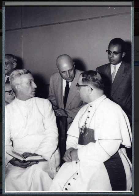 Ragheb Moftah and two monsignors from the Vatican ca. 1950s