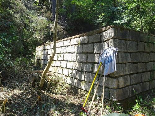 Le réservoir de Strascinedda après débroussaillage et nettoyage