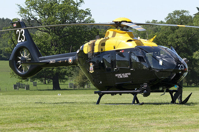 UK Defence Helicopter Flying School H135M Juno HT.1 ZM523 at the Midlands Air Show 2021 (Ragley Hall,Alcester)