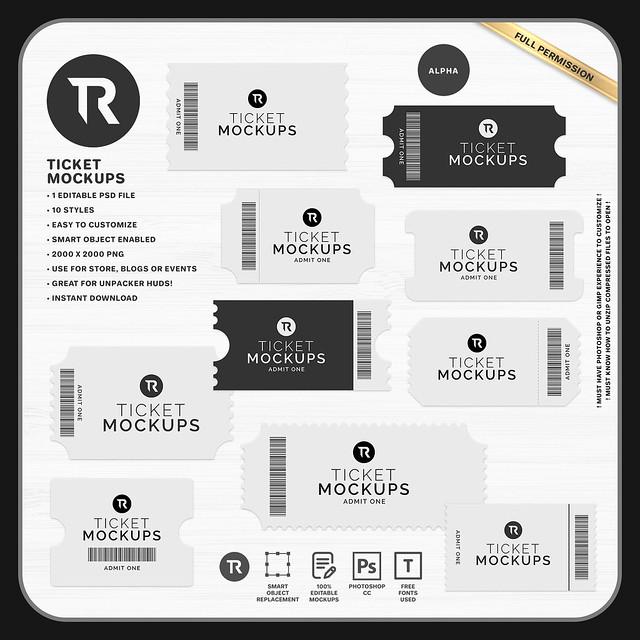 [TR] Ticket Mockups