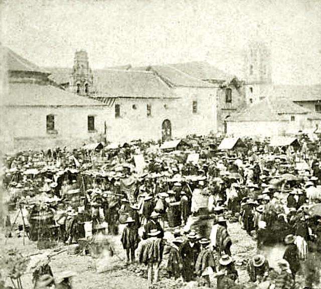 Cajamarca - Perú, 1890. Feria de productos departamentales