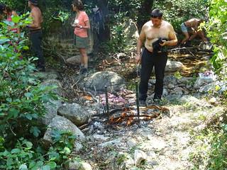 Spuntinu grillades au ruisseau de Strascinedda