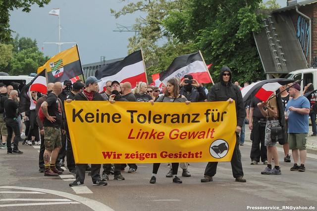 2021.06.12 Dessau-Rosslau OT Rosslau - Neonaziaufmarsch (1)