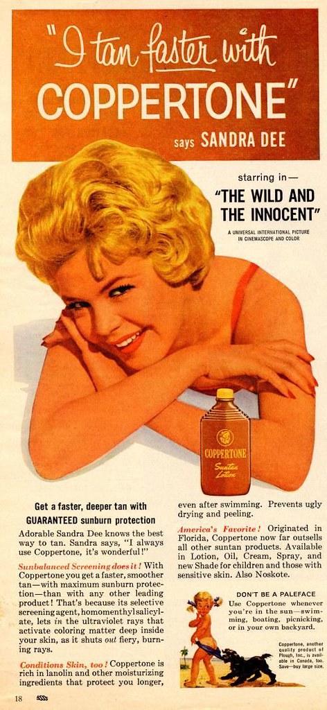 1958 Coppertone Sandra Dee