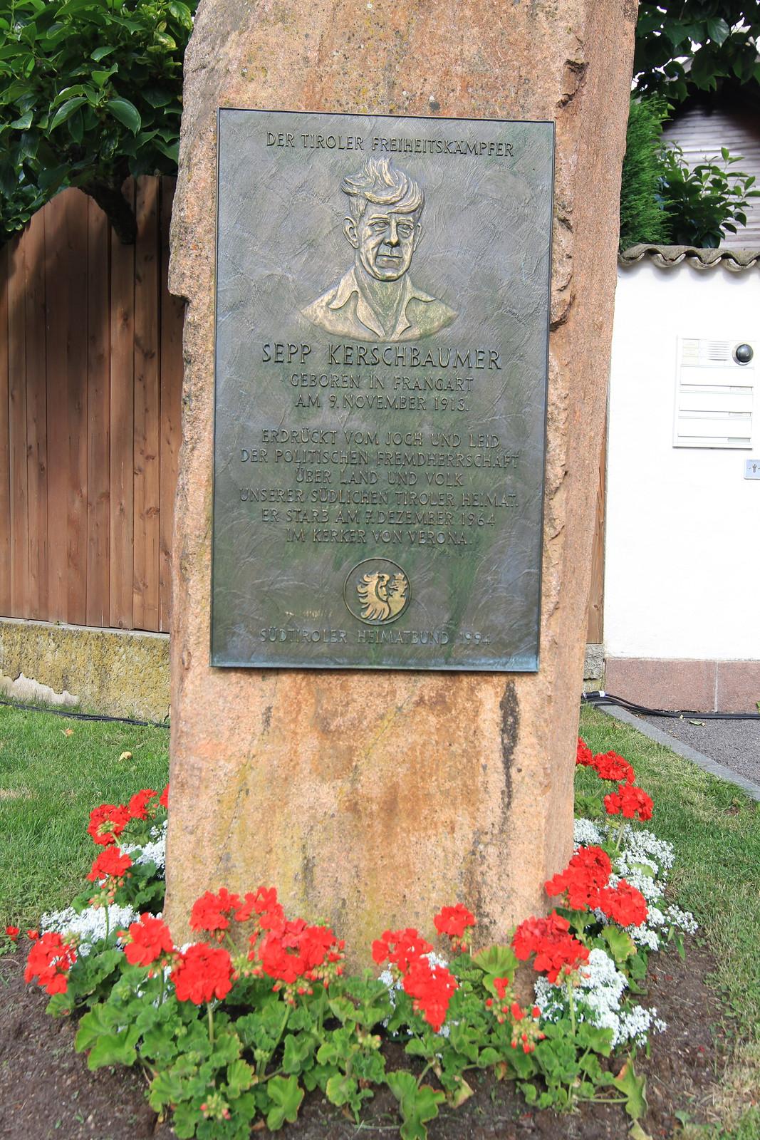 Gedenkfeier 60 Jahre Feuernacht in Frangart, 12.06.2021