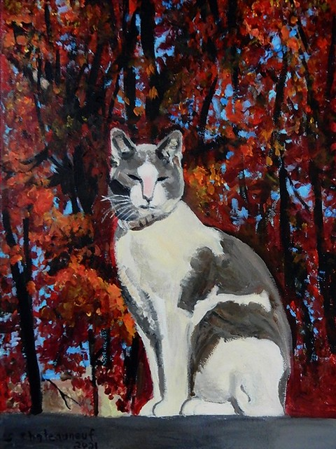 Gibby - Acrylic Painting by STEVEN CHATEAUNEUF - (2021)