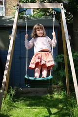 Margot on the swing