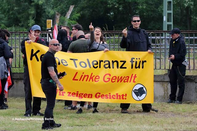 """12.06.2021 Dessau-Roßlau (OT Roßlau): neonazistischer Aufmarsch """"Gegen linke Gewalt"""""""