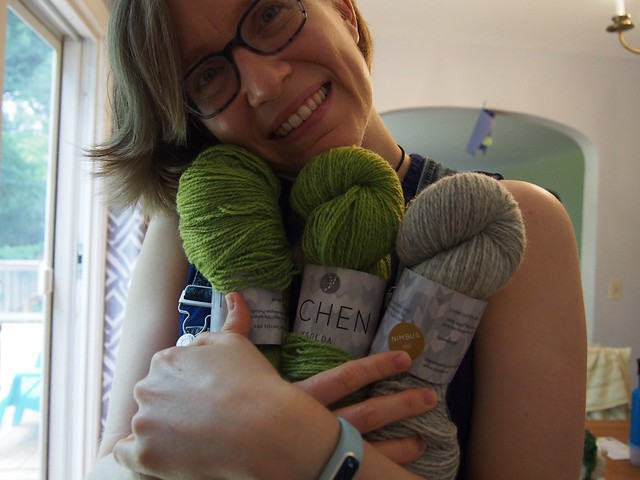 Lichen yarn from the Ysolda care package