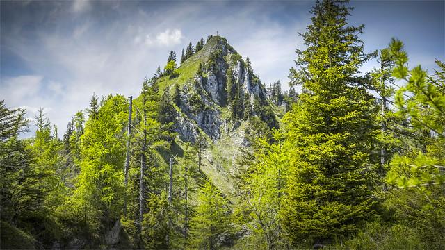 _DSC33001 On the ridge trail to Mt. Trapez and Mt. Steineck / Upper-Austria