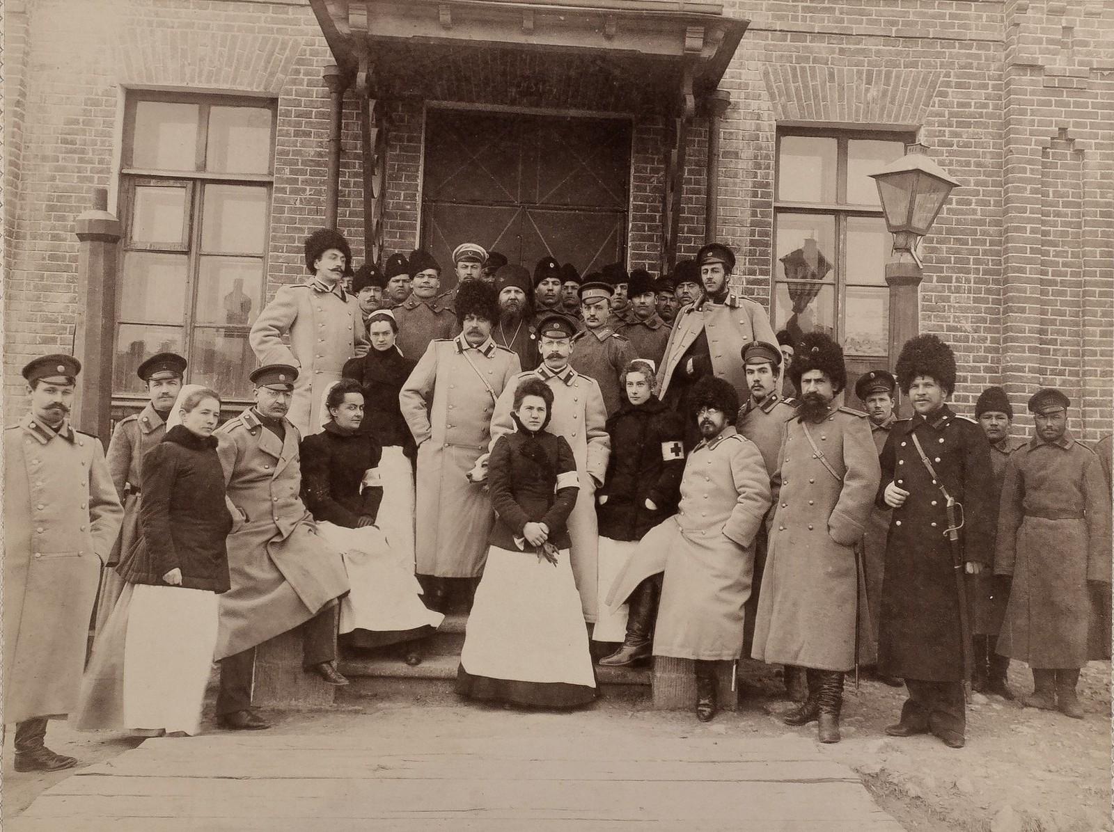 Персонал полевого запасного госпиталя. 1901