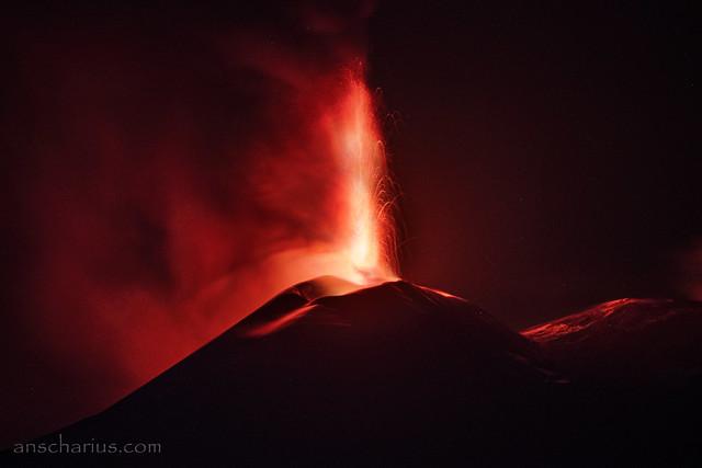 Eruption of Etna Volcano - 2021.06.12