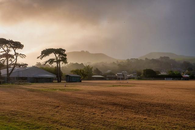 Soccer Field in Tropical Mist