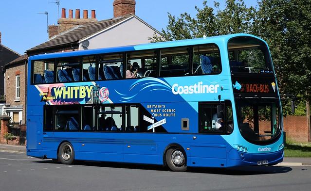 Transdev Yorkshire Coastliner (Malton Depot) 2773 BF63HCO works an 840 'Coastliner' service for Whitby at Heworth Village in the York suburbs.