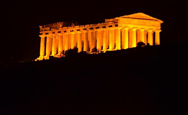 Agrigento at night