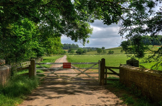 Gated country road, Northamptonshire
