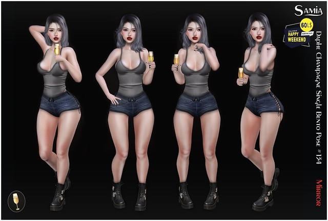 Samia - Daphe Champagne Single Mirror Bento Pose Bonus #134