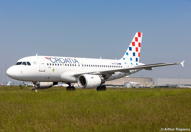 Croatia Airlines Airbus A319-112 9A-CTL (CDG)